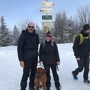 Karin Satoriová na vrcholu Smrk (15.2.2020 11:57)