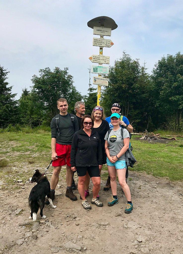 Hanka na vrcholu Smrk (6.7.2018 13:54)