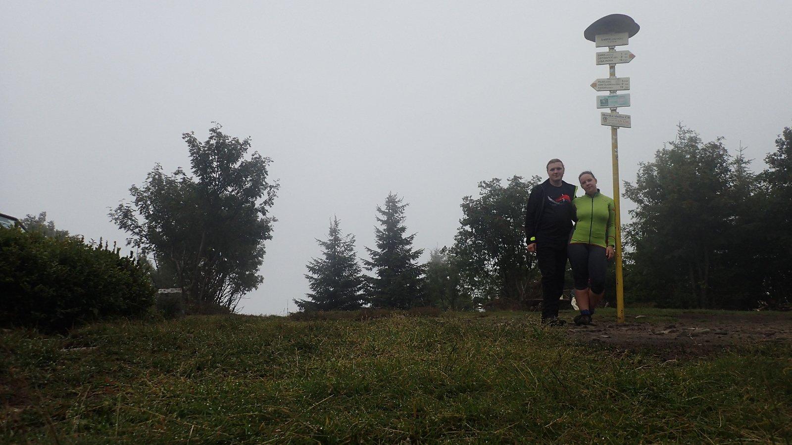 Jiřík na vrcholu Smrk (15.7.2018 8:59)