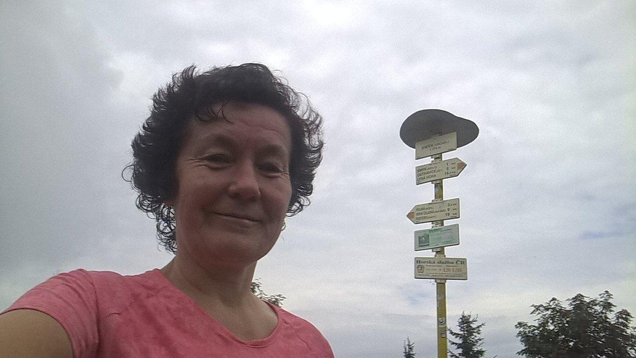 Anna na vrcholu Smrk (22.7.2018)