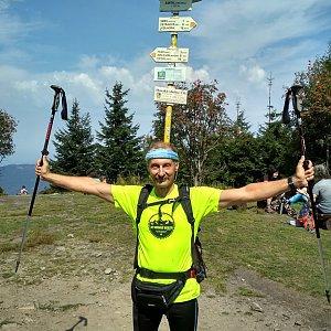 Jiří Sumbal na vrcholu Smrk (18.8.2018 11:55)