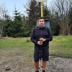 Jiří Gryz na vrcholu Smrk (10.10.2020 11:30)