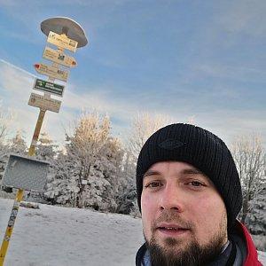 Jan Zamarski na vrcholu Smrk (16.12.2020 8:35)