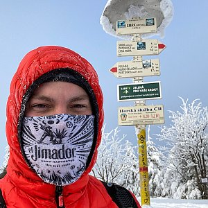 Vladimir Kveton na vrcholu Smrk (17.1.2021 15:02)