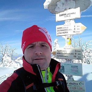 Vítězslav Vrána na vrcholu Smrk (19.1.2019 11:49)
