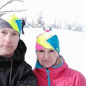 I+L Rajnochovi na vrcholu Smrk (23.2.2019 12:04)