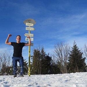 Jan Rendl na vrcholu Smrk (17.3.2019 16:00)