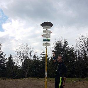 Michal na vrcholu Smrk (20.5.2021 17:18)