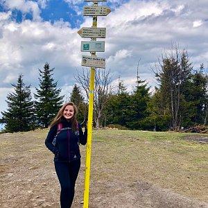 Nicole na vrcholu Smrk (22.4.2019 13:59)