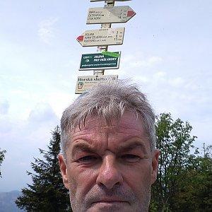 Jaroslav Macura na vrcholu Smrk (12.6.2021 14:50)