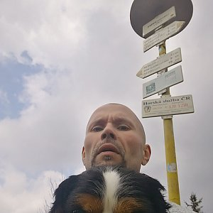 Pavel Krömer na vrcholu Smrk (2.5.2019 12:47)