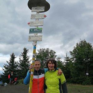 Petra Kosarkova na vrcholu Smrk (28.8.2021 13:02)