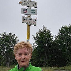 MUDr.Svatopluk Kunčar na vrcholu Smrk (27.6.2019 12:00)