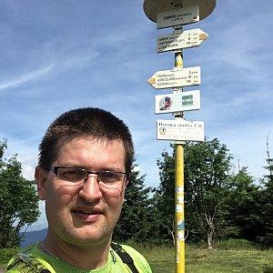 Radim Škrabánek na vrcholu Smrk (29.6.2019 10:20)