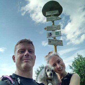 Bohumila Krejčová na vrcholu Smrk (20.7.2019 16:00)