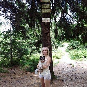 Ilona Mušálková na vrcholu Smrk (20.7.2019 14:00)