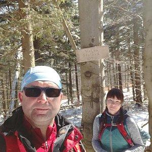 Brůča&Bubu na vrcholu Velká Stolová (2.4.2018 12:00)