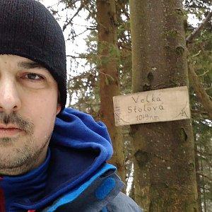 Petr Kowolowski na vrcholu Velká Stolová (28.1.2018 15:52)