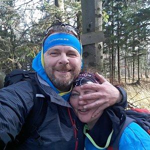 Martin a Jana Halamíčkovi na vrcholu Velká Stolová (17.11.2019 11:31)