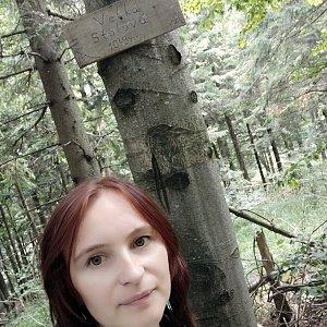 Jana Bartošová na vrcholu Velká Stolová (20.7.2019 11:53)