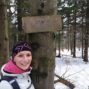 Aneta Gabzdylová na vrcholu Velká Stolová (18.1.2020 10:41)