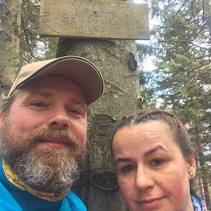 Marcela Motlochová na vrcholu Velká Stolová (4.4.2020 14:24)