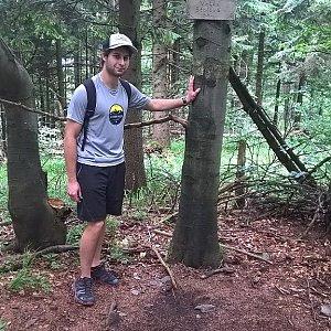 Jack Skurello na vrcholu Velká Stolová (16.6.2018 12:55)