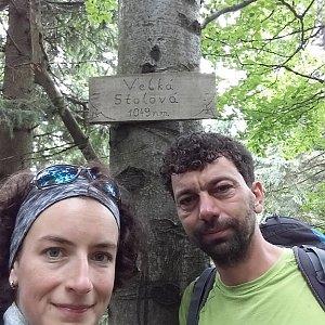 Babunka159 na vrcholu Velká Stolová (18.6.2018 12:25)