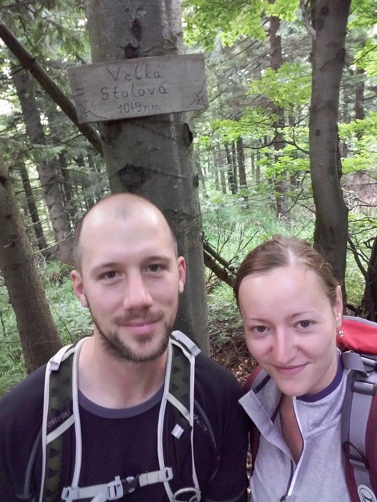 Paja&Tom na vrcholu Velká Stolová (15.7.2018 9:21)