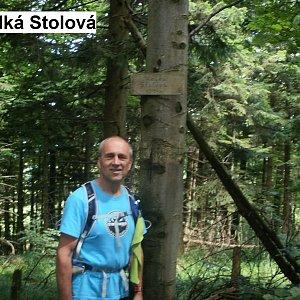 Čestmír Kubíček na vrcholu Velká Stolová (16.7.2018 13:38)