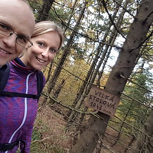 Michaela Karásková na vrcholu Velká Stolová (25.10.2020 14:03)