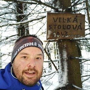 Jakub Špaček na vrcholu Velká Stolová (31.12.2020 12:47)
