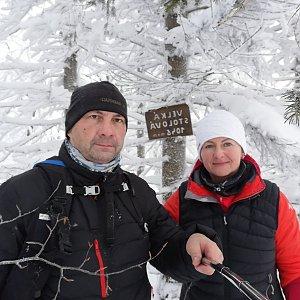 Dana + jirka na vrcholu Velká Stolová (17.1.2021 13:42)