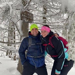 Veronika Hronková na vrcholu Velká Stolová (30.1.2021 10:31)