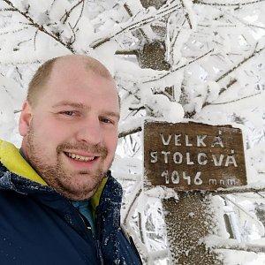 Petr Petrik na vrcholu Velká Stolová (14.2.2021 11:47)