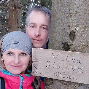 I+L Rajnochovi na vrcholu Velká Stolová (16.2.2019 14:56)