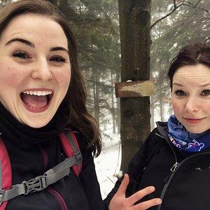 Nicole na vrcholu Velká Stolová (3.3.2019)
