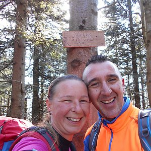 Romana Larischová na vrcholu Velká Stolová (7.4.2019 9:37)