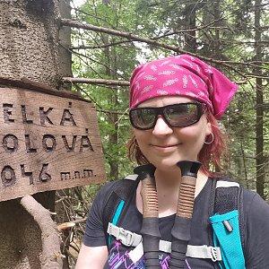 Daniela Vajsová na vrcholu Velká Stolová (5.7.2021 13:22)
