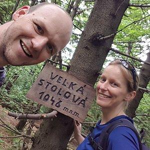 Michaela Karásková na vrcholu Velká Stolová (27.6.2021 14:41)
