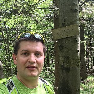 Radim Škrabánek na vrcholu Velká Stolová (1.6.2019 10:50)