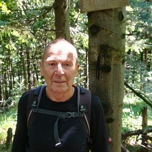 MUDr.Svatopluk Kunčar na vrcholu Velká Stolová (11.7.2019 12:29)