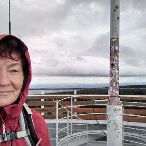Anna na vrcholu Smrk (5.10.2020)