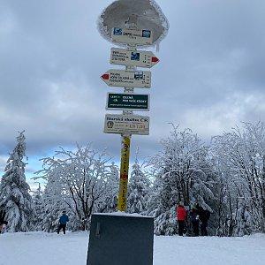 Zuzana Smržová na vrcholu Smrk (10.1.2021 11:00)
