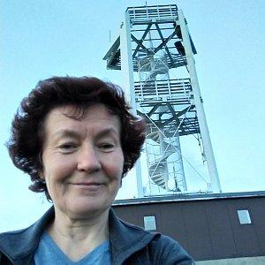 Anna na vrcholu Smrk (4.7.2019 21:30)