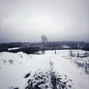 Jiří Šrámek na vrcholu Malý Javorník (27.12.2019 14:10)