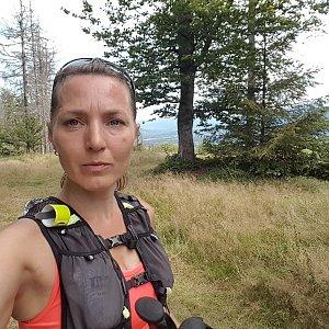 Marcela Kubíčková na vrcholu Malý Javorník (22.8.2021 12:01)
