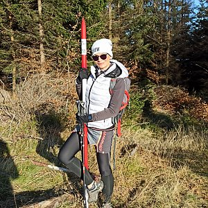 Pavlína Sýkorová na vrcholu Stanovec (15.11.2020 12:20)