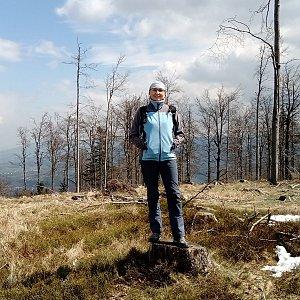 Iva Purmenská na vrcholu Stanovec (25.4.2021 12:06)