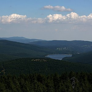 Bouřka na vrcholu Jizera (24.7.2018 15:41)
